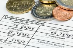 Verdienstbescheinigung mit Kleingeld